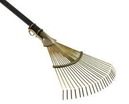 scopa rastrello spazzola foglie erba prato giardino...