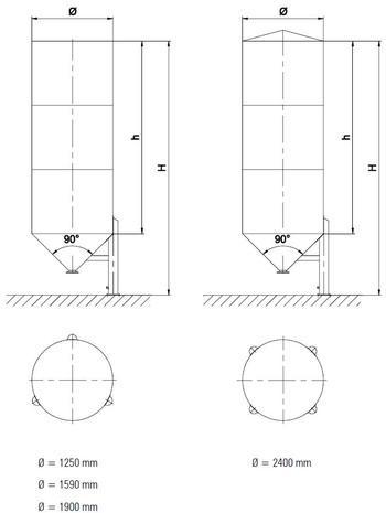 Single chamber silo
