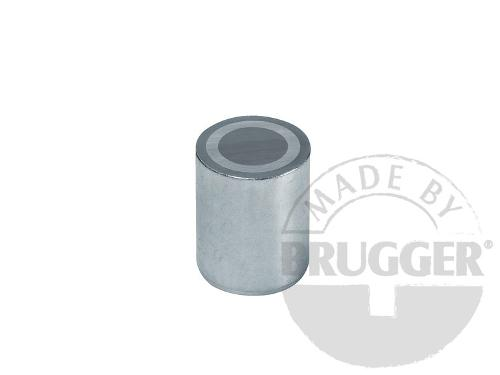 Bar magnets AlNiCo, steel body, zinc coated