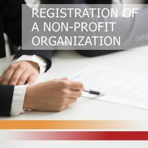Registration of a non-profit organization