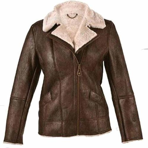 Women's Flying Brown Aviator Jacket