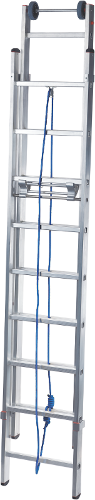 Two-section rope-operated rung ladder NV 524