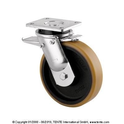 roulette pivotante à frein pour forte charge